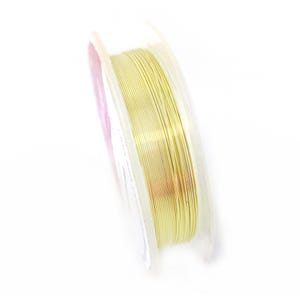 Copper Craft Wire Pale Gold Enamelled 20m Hanging Reel 0.4mm Thick X1025