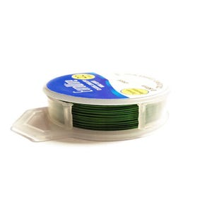 Copper Craft Wire Dark Green Enamelled 20m Hanging Reel 0.4mm Thick X1045