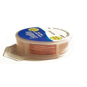 Copper Craft Wire Rose Gold Enamelled 10m Hanging Reel 0.6mm Thick X1080