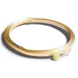 Flat Tape Copper Craft Wire Golden Enamelled 1m Coil 0.75mm x 3mm Thick X1280