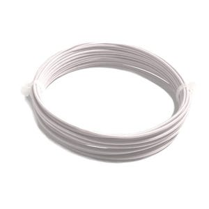 Aluminium Craft Wire White Silk Covered 4m Coil 0.9mm Thick X1335