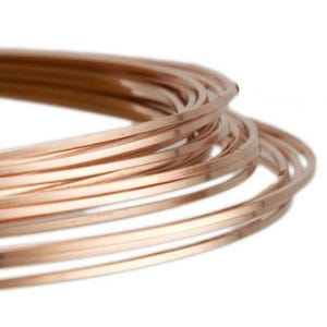 Square Copper Craft Wire Rose Gold Enamelled 6m Coil 0.8mm Thick X1695