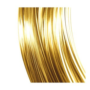 Copper Craft Wire Gold 24K Plated 15m Coil 0.4mm Thick X1705