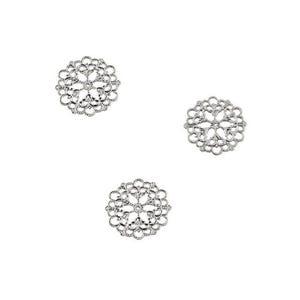 Antique Silver Tibetan Zinc 1mm x 29mm Filligree Connectors Pack Of 3 Y00070