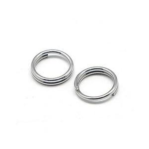 Silver 304 Stainless Steel 0.6mm x 7mm Round Split Rings Pack Of 110+ Y00115