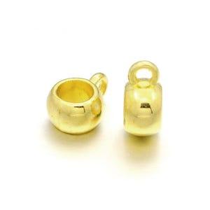 Golden Tibetan Zinc 5mm x 8mm Barrel Charm Hangers Pack Of 10 Y01165