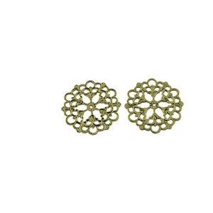 Antique Bronze Tibetan Zinc 1mm x 29mm Filligree Connectors Pack Of 3 Y01185
