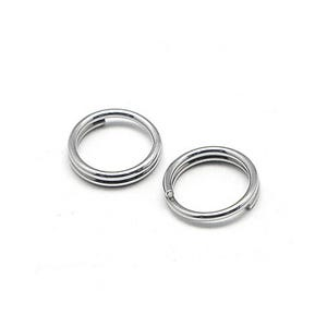 Silver 304 Stainless Steel 1.2mm x 6mm Round Split Rings Pack Of 110+ Y01310
