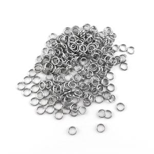 Silver 304 Stainless Steel 0.6mm x 3.5mm Round Open Jump Rings Pack Of 100+ Y01920