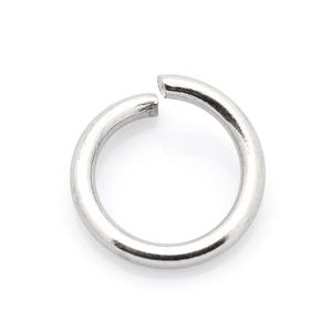 Silver 304 Stainless Steel 1.2mm x 6mm Round Open Jump Rings Pack Of 100+ Y01945