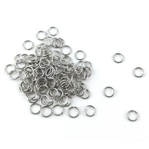 Silver 304 Stainless Steel 0.5mm x 4mm Round Open Jump Rings Pack Of 100+ Y01975