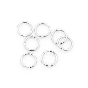 Silver 304 Stainless Steel 1mm x 8mm Round Open Jump Rings Pack Of 50+ Y01995