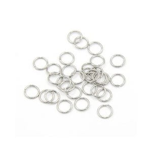 Silver 304 Stainless Steel 0.7mm x 6mm Round Open Jump Rings Pack Of 100+ Y02035