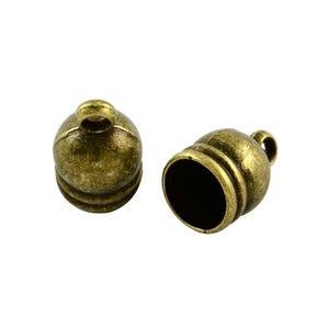 Antique Bronze Tibetan Zinc 9mm x 14mm Bell-Shape End Caps Pack Of 20 Y02530