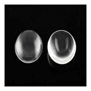 Clear Smooth Glass 18mm x 25mm Calibrated Oval Cabochons Pack Of 10 Y02595