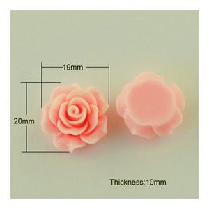 Peach/Pink Smooth Resin 20mm Calibrated Flower Cabochons Pack Of 10 Y02945
