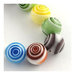 Mixed-Colour Millefiori Glass Plain Round Beads 4mm Pack Of 30 Y03055