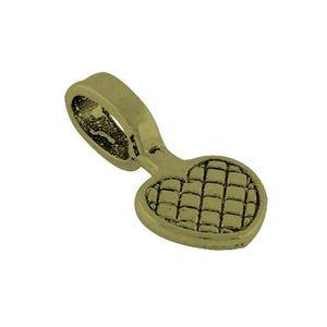 Antique Bronze Tibetan Zinc 10mm x 20mm Heart Glue On Bails Pack Of 30 Y03320