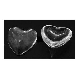 Clear Smooth Glass 10mm Calibrated Heart Cabochons Pack Of 20 Y03450
