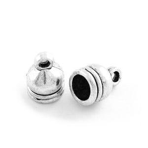 Antique Silver Tibetan Zinc 8mm x 11mm Bell-Shape End Caps Pack Of 30 Y03500