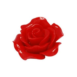 Red Smooth Resin 20mm Calibrated Flower Cabochons Pack Of 20 Y03770