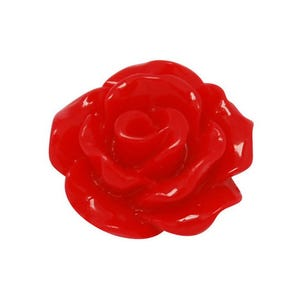 Red Smooth Resin 10mm Calibrated Flower Cabochons Pack Of 30 Y04335