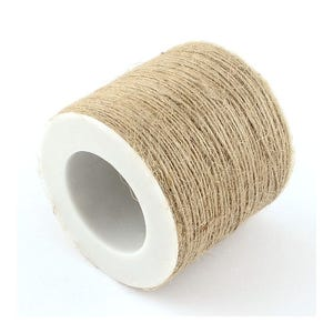 Beige Hemp Twine Cord 10M Continuous Length 1mm Thick Y04780