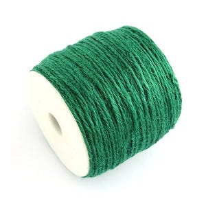 Green Hemp Twine Cord 10M Continuous Length 2mm Thick Y04845