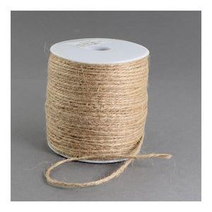 Beige Hemp Twine Cord 10M Continuous Length 2mm Thick Y05055