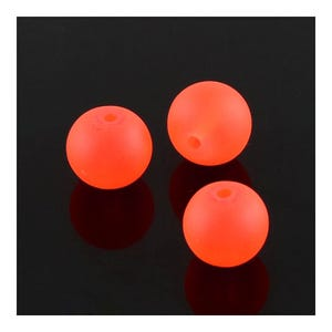 Orange Frosted Dyed Glass Plain Round Beads 6mm Strand Of 135+ Pieces Y05095