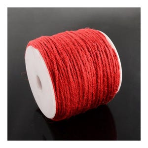 Red Hemp Twine Cord 10M Continuous Length 2mm Thick Y05190