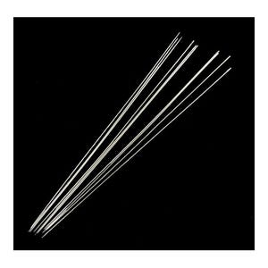 Silver Steel 0.7mm x 75mm Beading Needles Pack Of 20 Y05475
