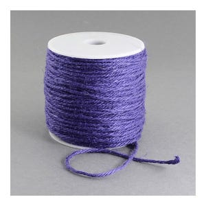 Lilac Hemp Twine Cord 10M Continuous Length 2mm Thick Y05575