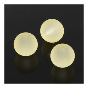 Yellow Frosted Dyed Glass Plain Round Beads 4mm Strand Of 195+ Pieces Y05630