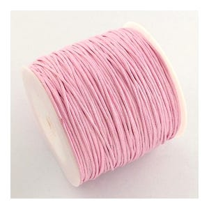 Pale Pink Waxed Cotton String Cord 5M Continuous Length 0.7mm Thick Y06160