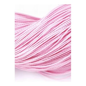 Pale Pink Waxed Polyester String Cord 10M Continuous Length 0.7mm Thick Y06175