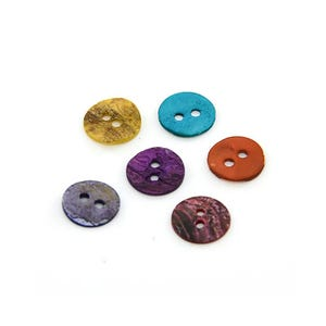 Mixed-Colour Mother Of Pearl 10mm 2-Hole Round Buttons Pack Of 25 Y06200