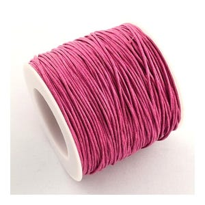Pink Waxed Cotton String Cord 5M Continuous Length 0.7mm Thick Y06205