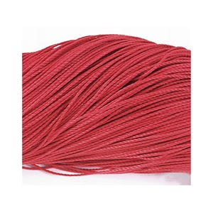 Red Waxed Polyester String Cord 10M Continuous Length 0.8mm Thick Y06230
