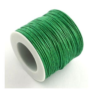 Green Waxed Cotton String Cord 5M Continuous Length 1mm Thick Y06250