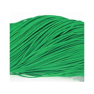 Green Waxed Polyester String Cord 10M Continuous Length 1mm Thick Y06350