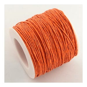 Orange Waxed Cotton String Cord 5M Continuous Length 1mm Thick Y06355