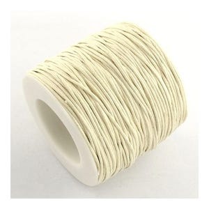 Cream Waxed Cotton String Cord 5M Continuous Length 1mm Thick Y06395