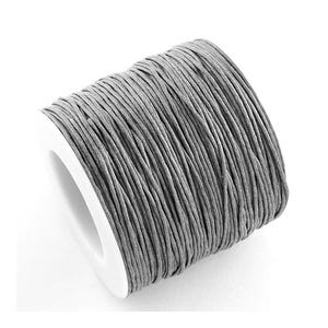 Grey Waxed Cotton String Cord 5M Continuous Length 1mm Thick Y06550