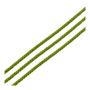 Yellow/Green Cotton String Cord 3M Continuous Length 1mm Thick Y06565