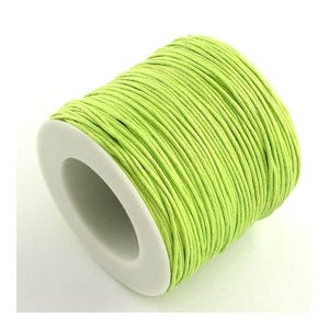 Yellow/Green Waxed Cotton String Cord 5M Continuous Length 1mm Thick Y06640