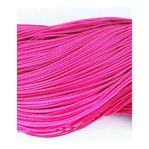 Fuchsia Waxed Polyester String Cord 10M Continuous Length 1mm Thick Y06690