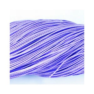 Lilac Waxed Polyester String Cord 10M Continuous Length 1mm Thick Y06695