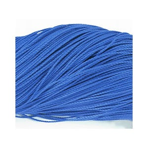 Blue Waxed Polyester String Cord 10M Continuous Length 1mm Thick Y06775