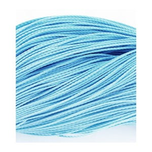 Pale Blue Waxed Polyester String Cord 10M Continuous Length 0.8mm Thick Y06795